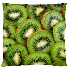 Sliced And Open Kiwi Fruit Standard Flano Cushion Case (one Side)