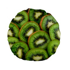 Sliced And Open Kiwi Fruit Standard 15  Premium Flano Round Cushions by goodart