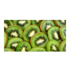 Sliced And Open Kiwi Fruit Satin Wrap by goodart