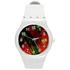 Secret Sign Of Masons 6 Round Plastic Sport Watch (m)