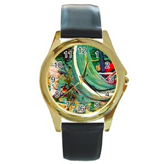 Matters Most 3 Round Gold Metal Watch