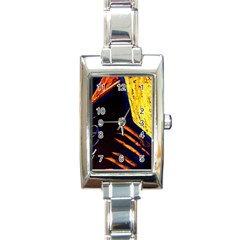 Cryptography Of The Planet 2 Rectangle Italian Charm Watch