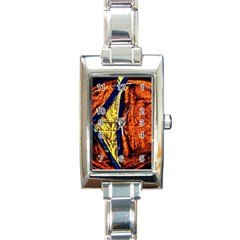 Cryptography Of The Planet 9 Rectangle Italian Charm Watch