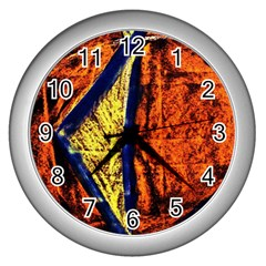 Cryptography Of The Planet 9 Wall Clocks (silver)  by bestdesignintheworld