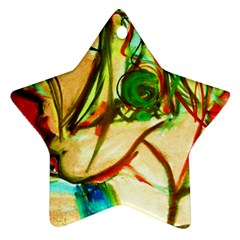 Girl In A Blue Tank Top Ornament (star)