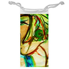 Girl In A Blue Tank Top Jewelry Bag by bestdesignintheworld