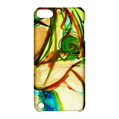 Girl In A Blue Tank Top Apple Ipod Touch 5 Hardshell Case With Stand