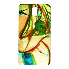 Girl In A Blue Tank Top Samsung Galaxy Note 3 N9005 Hardshell Back Case