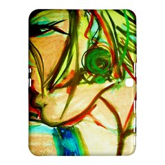 Girl In A Blue Tank Top Samsung Galaxy Tab 4 (10 1 ) Hardshell Case