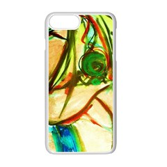 Girl In A Blue Tank Top Apple Iphone 7 Plus Seamless Case (white)