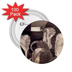 Jurisprudence   Gustav Klimt 2 25  Buttons (100 Pack)