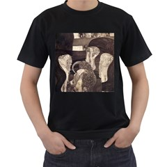 Jurisprudence   Gustav Klimt Men s T Shirt (black) (two Sided)