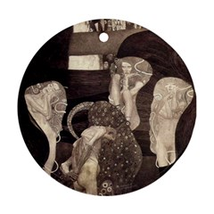 Jurisprudence   Gustav Klimt Round Ornament (two Sides)