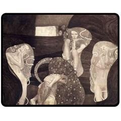 Jurisprudence   Gustav Klimt Fleece Blanket (medium)  by Valentinaart