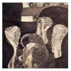 Jurisprudence   Gustav Klimt Large Satin Scarf (square) by Valentinaart