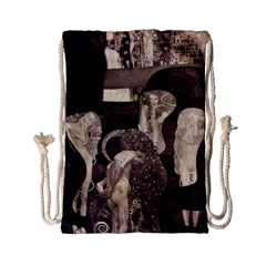 Jurisprudence   Gustav Klimt Drawstring Bag (small) by Valentinaart