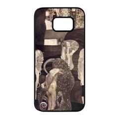 Jurisprudence   Gustav Klimt Samsung Galaxy S7 Edge Black Seamless Case