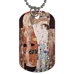 The Three Ages Of Woman  Gustav Klimt Dog Tag (two Sides)