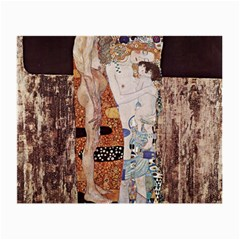 The Three Ages Of Woman  Gustav Klimt Small Glasses Cloth by Valentinaart