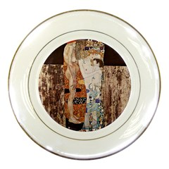The Three Ages Of Woman  Gustav Klimt Porcelain Plates