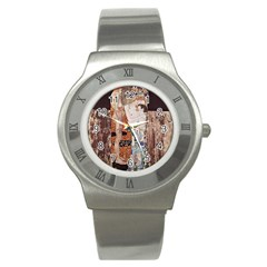 The Three Ages Of Woman  Gustav Klimt Stainless Steel Watch