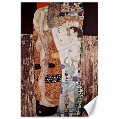 The Three Ages Of Woman  Gustav Klimt Canvas 24  X 36  by Valentinaart