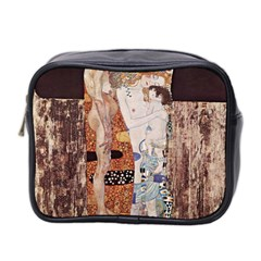 The Three Ages Of Woman  Gustav Klimt Mini Toiletries Bag 2 Side by Valentinaart