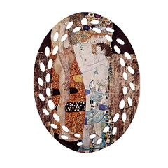 The Three Ages Of Woman  Gustav Klimt Ornament (oval Filigree) by Valentinaart