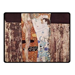 The Three Ages Of Woman  Gustav Klimt Double Sided Fleece Blanket (small)