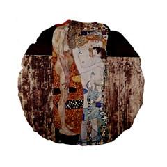The Three Ages Of Woman  Gustav Klimt Standard 15  Premium Flano Round Cushions by Valentinaart