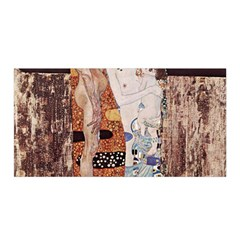 The Three Ages Of Woman  Gustav Klimt Satin Wrap by Valentinaart