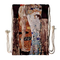 The Three Ages Of Woman  Gustav Klimt Drawstring Bag (large)
