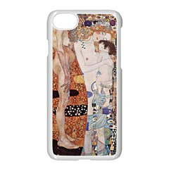 The Three Ages Of Woman  Gustav Klimt Apple Iphone 7 Seamless Case (white)