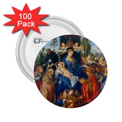Feast Of The Rosary   Albrecht D¨1rer 2 25  Buttons (100 Pack)