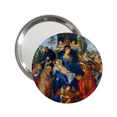 Feast Of The Rosary   Albrecht D¨1rer 2 25  Handbag Mirrors