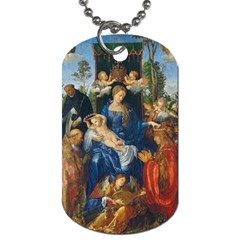 Feast Of The Rosary   Albrecht D¨1rer Dog Tag (two Sides)