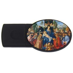 Feast Of The Rosary   Albrecht D¨1rer Usb Flash Drive Oval (4 Gb) by Valentinaart