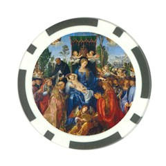Feast Of The Rosary   Albrecht D¨1rer Poker Chip Card Guard (10 Pack)