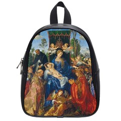 Feast Of The Rosary   Albrecht Dürer School Bag (small) by Valentinaart