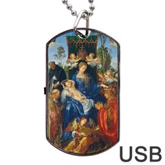 Feast Of The Rosary   Albrecht D¨1rer Dog Tag Usb Flash (one Side)
