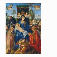 Feast Of The Rosary   Albrecht D¨1rer Small Garden Flag (two Sides)