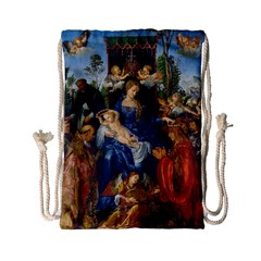 Feast Of The Rosary   Albrecht D¨1rer Drawstring Bag (small) by Valentinaart