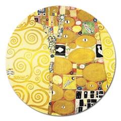 The Embrace   Gustav Klimt Magnet 5  (round) by Valentinaart