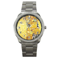 The Embrace   Gustav Klimt Sport Metal Watch