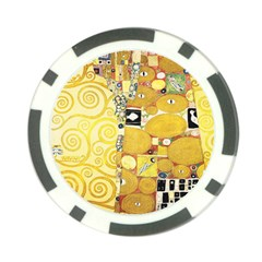 The Embrace   Gustav Klimt Poker Chip Card Guard (10 Pack)