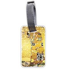 The Embrace   Gustav Klimt Luggage Tags (one Side)