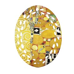 The Embrace   Gustav Klimt Ornament (oval Filigree) by Valentinaart