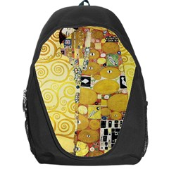 The Embrace   Gustav Klimt Backpack Bag