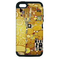 The Embrace   Gustav Klimt Apple Iphone 5 Hardshell Case (pc+silicone)