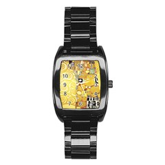 The Embrace   Gustav Klimt Stainless Steel Barrel Watch